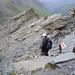 schneller Abstieg von Nöten.. der Blitz war bereits auf dem Gipfel über uns eingeschlagen ..
