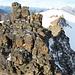 Blick nach SW: letzter Turm vor dem Schlussanstieg zum Gipfel des Chlys Tschingelhorns, dahinter der SW-Grat und der Petersgrat.