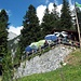 """Auf halbem Weg bietet die Brunnsteinhuette (1560m) eine willkommene """"Traenke""""."""