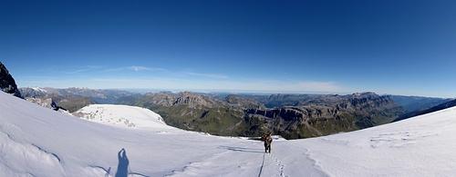 Kleines Aufstiegs-Panorama..ein herrlicher Tag!