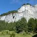 Die erste Felsstufe vom Klettersteig Pinut
