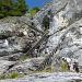 Eisentreppen über die zweite Felsstufe