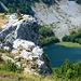 Tiefblick auf den Veliko Stabansko Jezero