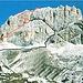 Kesselkogel - Klettersteig<br />Rot - Der neue Klettersteig<br />Schwarz - Der alte, aufgelassene Klettersteig