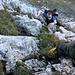 In der Felsstufe im Aufstieg zum Bärenstock. Kann und wird normalerweise umgangen.