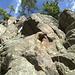 """Schramberger Granit am """"Bollenweg"""", links der Überhang des """"Bauchwalzer"""""""