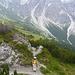 Gelände an der Bergatation der Schlick 2000 Seilbahn - im Hintergrund die Schlicker Seespitze mit dem Schlicker Schartl