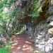 Der Pfad ist auch hier manchmal in die Felsen gehauen, aber breit und nicht mehr ausgesetzt
