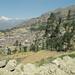 Cordillera Huayhuash con lo Jerupaya che domina e la cittadina di Chiquiàn 3380m