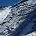 Aufstiegsrinne mit Ausstieg am Grat