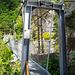 Die erste Hängebrücke (87 Meter)