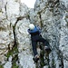 Der Aufstiegskamin auf den Kleiner Myhen.  Die Kletterei in diesem Kamin hat uns viel besser gefallen als im Müller Kamin.