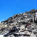 Bisschen Kletterei zum Gipfel