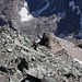 Tiefblick auf die Aufstiegsroute