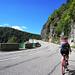 Silvia kurz vor der Passhöhe am Col de la Schlucht