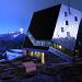 Die Neue Monte Rosa Hütte in Abendstimmung