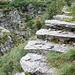 Valle di Bri - Treppen über dem Abgrund