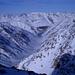 Tiefblick auf lange Val Curnera durch das unsere Aufstiegsroute führte
