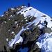 Gipfelsturm – selbst der Photograph findet Platz auf dem Bild (links unten)
