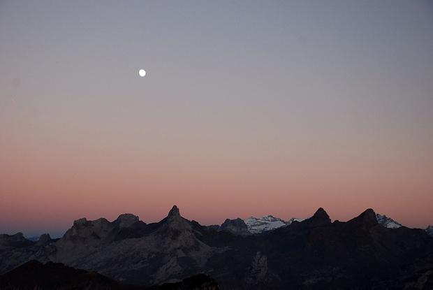 Serie Mond über dem Chaiserstock Nr. 4