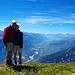 Vom Südgipfel hat man eine phantastische Aussicht aufs Rhônetal! Rechts von Nanet sieht man wie die Rhône beim [http://www.hikr.org/tour/post28355.html Pfynwald] noch in ihrem alten Bett fliesst und links von [u Willem] den Illgraben