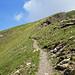 Letzte Meter auf den Gipfel