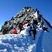 wir suchten uns auch ein Plätzchen unterhalb des Gipfels