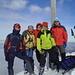 Gipfelposing: Michael, Werner ([u Hawkeye]), Angelika, ich ([u mali]), Hans und Dohle