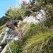 Auf dem weiss-blau-weiss markierten Weg am Gipfelstock