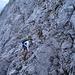 Vorsicht ist hier angesagt; der Fels ist wie so oft sehr brüchig