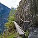 Überquerung einer Felsspalte