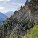 Die erste Felswand im Rückblick