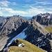 Blick über die östlichen Lechtaler bis ins Karwendel (der Schneegupf in der Bildmitte dürfte der Kl. Solstein sein)