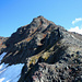 Rückblick nach dem Abstieg über den steilen und sehr brüchigen NW-Grat