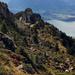 Abstieg durch das kleine Tal auf dem Grat