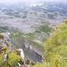vorne in der Lücke ist meine grüne Sackgasse von oben zu erkennen - rechts davon das Hahnenköpfele - von oben nicht einmal als Gipfel auszumachen