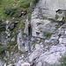 Leiter ins Bachbett der Aurigliaschlucht runter