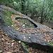 <b>Avello di Negrenza</b>, scavato in un masso di granito ghiandone. Il doppio orlo è destinato a ricevere il coperchio e a deviare l'acqua piovana.<br />Lunghezza: 185 cm.<br />Larghezza: 87 cm.<br />Profondità: 44 cm.