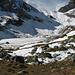 Blick von P. 2012 über die Ebene des Lauchbodens in Richtung Furggele. Lag hier mal ein Karsee?