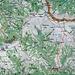 Meine Route von Топли До (Topli Do) auf den höchsten Berg Serbiens. Bei guter Sicht wäre ich eher über die Westseite aufgestiegen und wäre auf meiner begangenen Route nur abgestiegen.