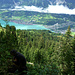 In der Tiefe der Brienzer See mit Brienz (links)