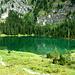 Glasklares grünes Wasser, lädt zum Baden ein ....