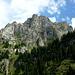 """Skurile Felsformation am gegenüberliegenden """"hausgipfel"""" der Oltschiburg (2233m)"""