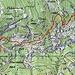 Ungefähre Route Legri - Carugo -Alva.