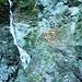 Bacheinschnitt im Val di Drosina - der kritische Übergang vor Dureda