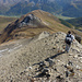 im Abstieg zum Piz Gualdauna und zur gleichnamigen Fuorcla.