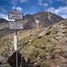 Abzweigung zum Normalweg der Wildspitze über das Mitterkarjoch, das Urkundkolm (dem Ötztaler Urkund vorgelagert) ist ein weiterer leichter Wander-3000er!