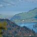 Blick über den Brünigpass mit Lungerer- und Sarnersee