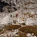 Luca, mein Klettermax, meistert den Einstieg ins Ghackte bravorös!