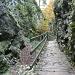 die grösste Herausforderung war heute, die aalglatten Holzbrücken zu überqueren